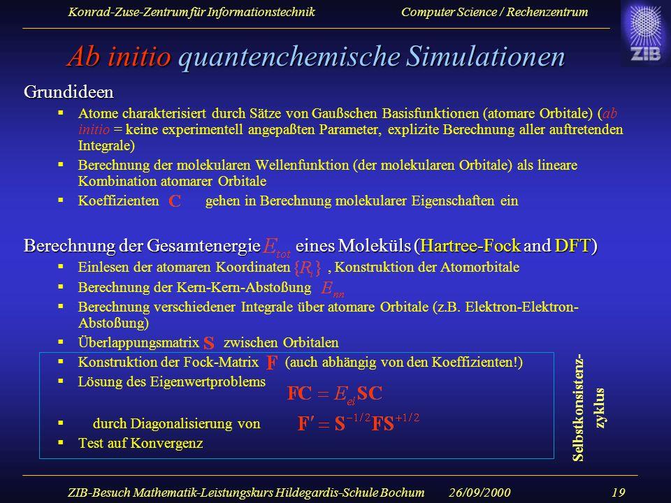 Ab initio quantenchemische Simulationen