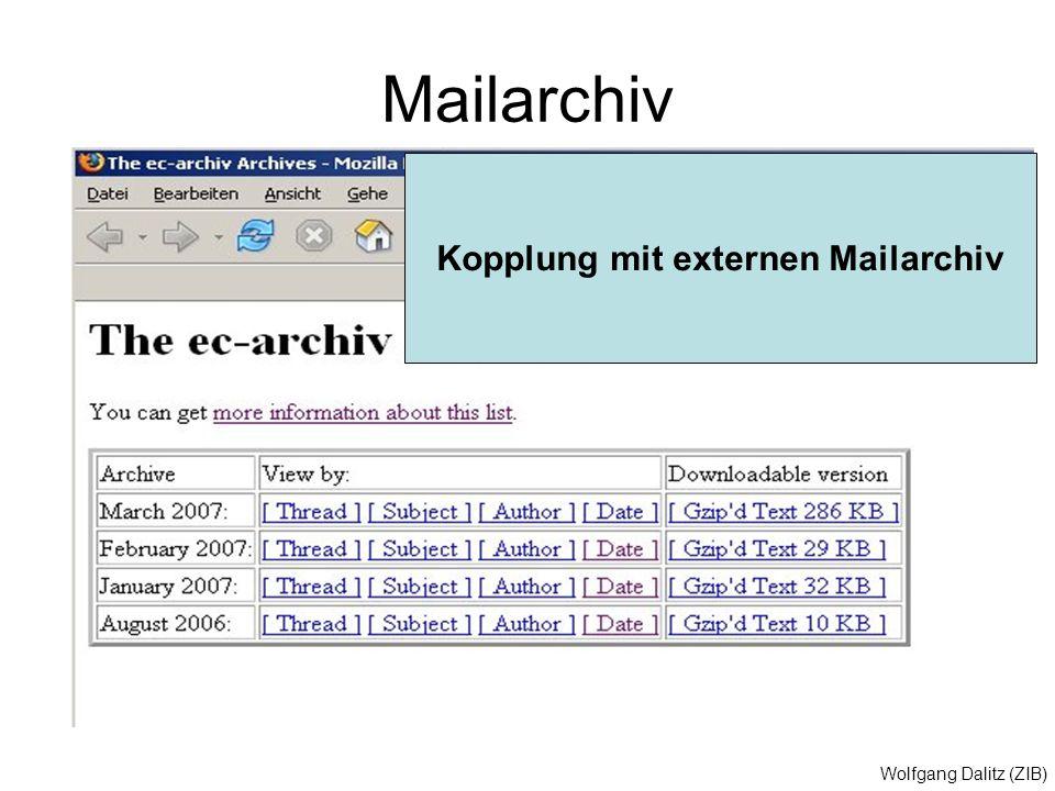 Kopplung mit externen Mailarchiv
