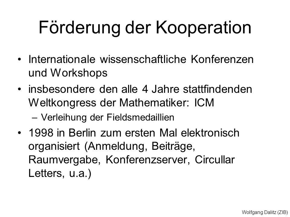 Förderung der Kooperation