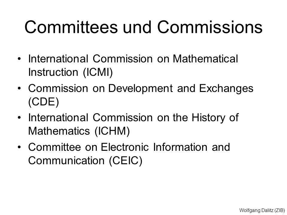 Committees und Commissions