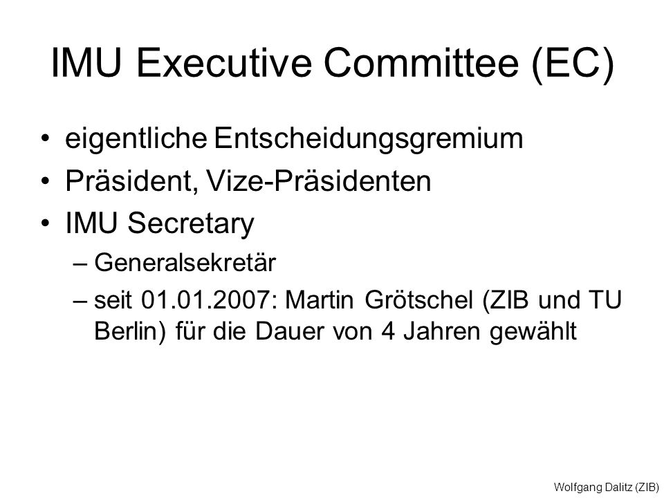 IMU Executive Committee (EC)