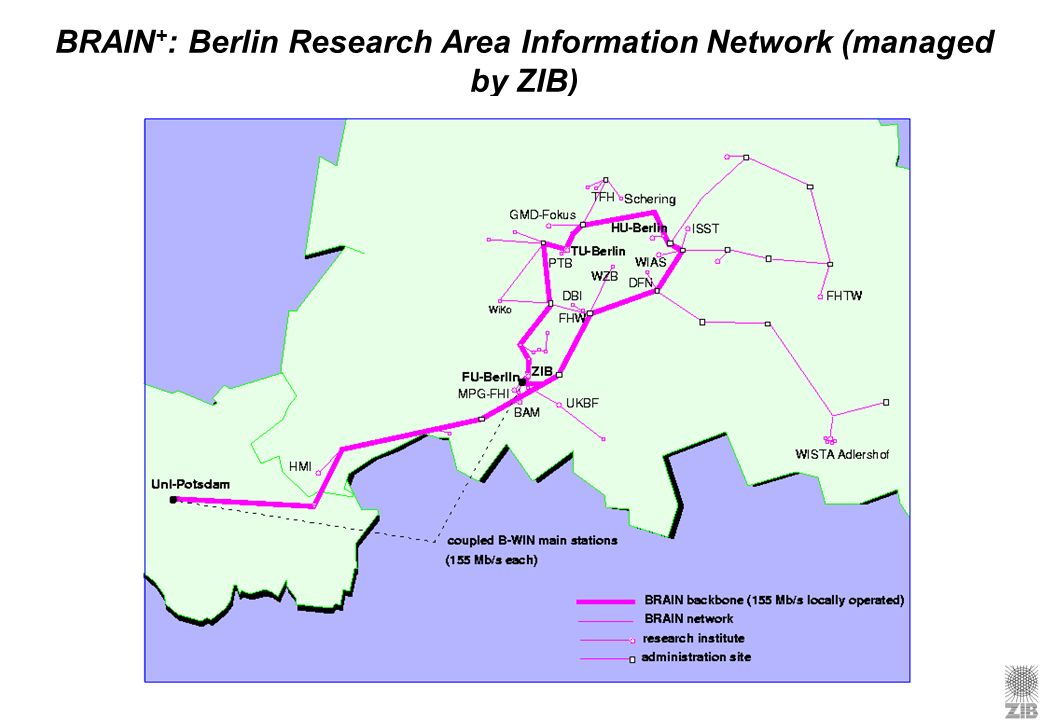 BRAIN+: Berlin Research Area Information Network (managed by ZIB)