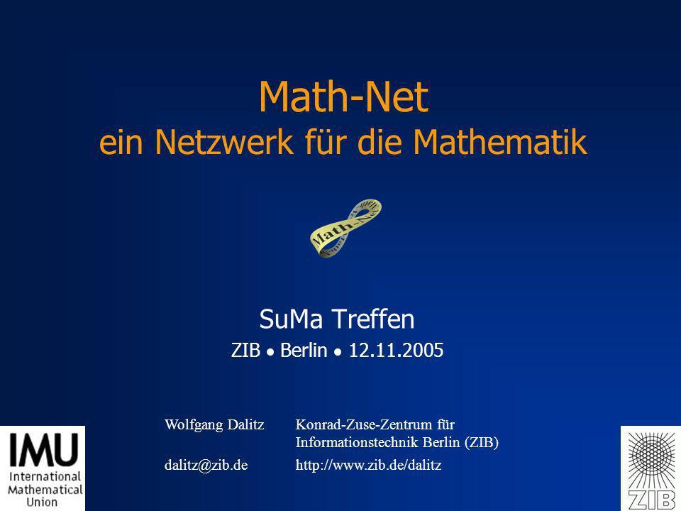 Math-Net ein Netzwerk für die Mathematik