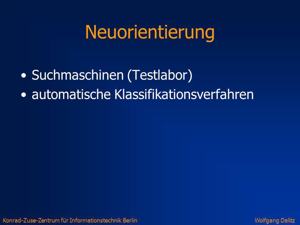 Neuorientierung Suchmaschinen (Testlabor)
