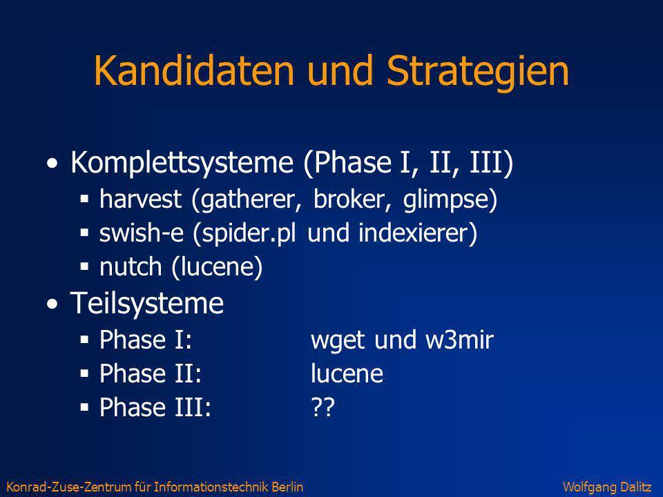 Kandidaten und Strategien
