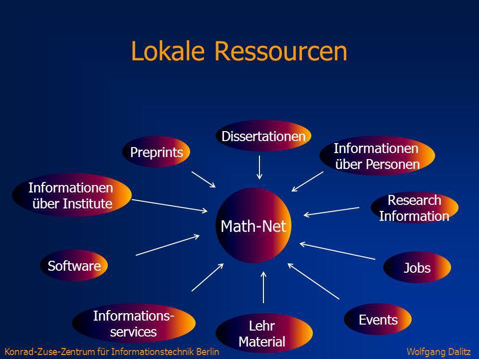 Lokale Ressourcen Math-Net Dissertationen Informationen Preprints