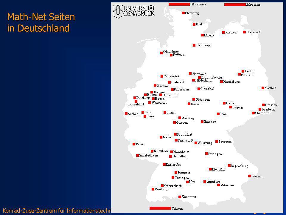 Math-Net Seiten in Deutschland