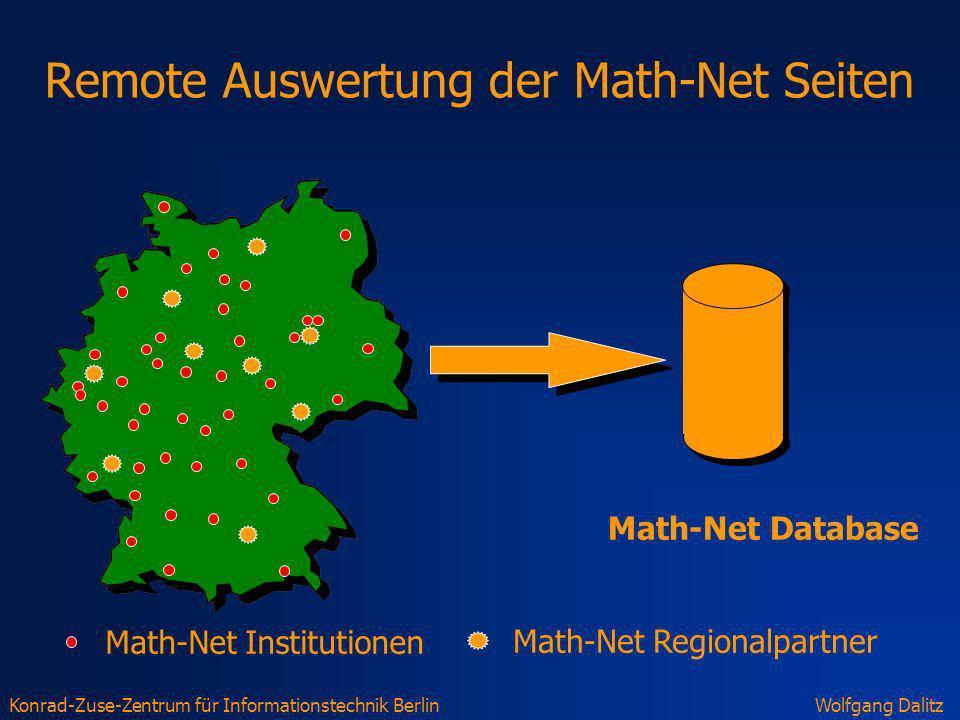 Remote Auswertung der Math-Net Seiten