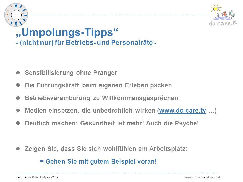 """""""Umpolungs-Tipps - (nicht nur) für Betriebs- und Personalräte -"""