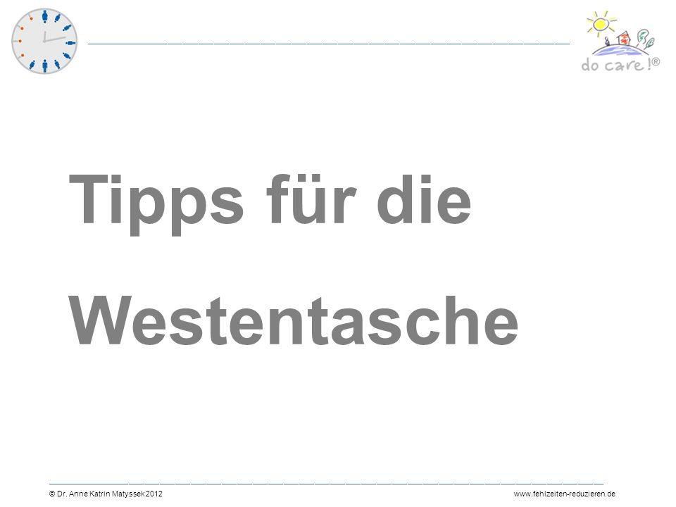 Tipps für die Westentasche