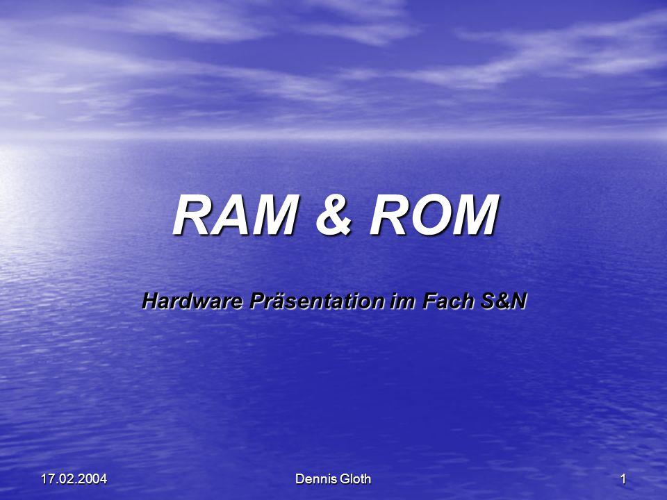 Hardware Präsentation im Fach S&N