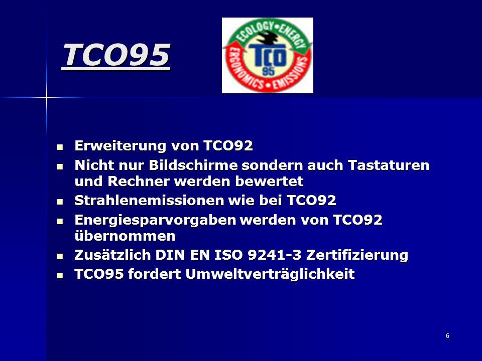 TCO95 Erweiterung von TCO92