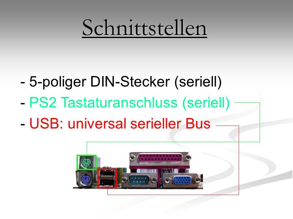 Schnittstellen 5-poliger DIN-Stecker (seriell)