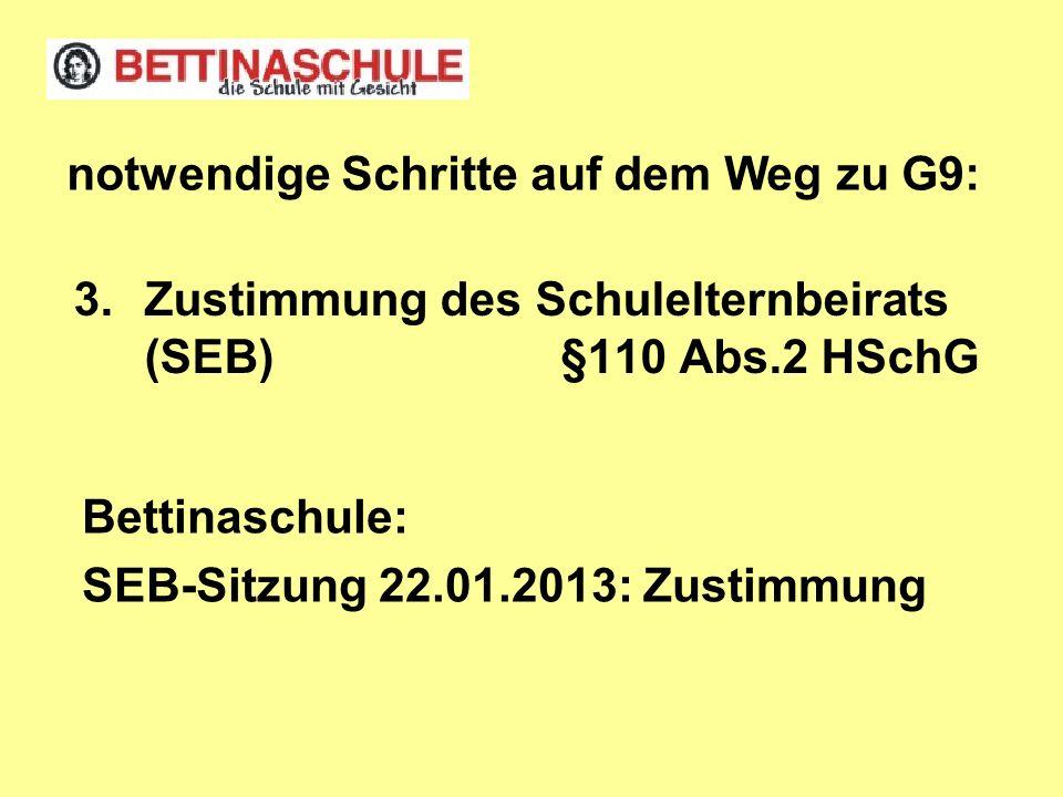 Zustimmung des Schulelternbeirats (SEB) §110 Abs.2 HSchG