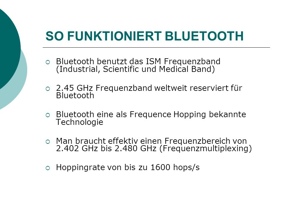 SO FUNKTIONIERT BLUETOOTH