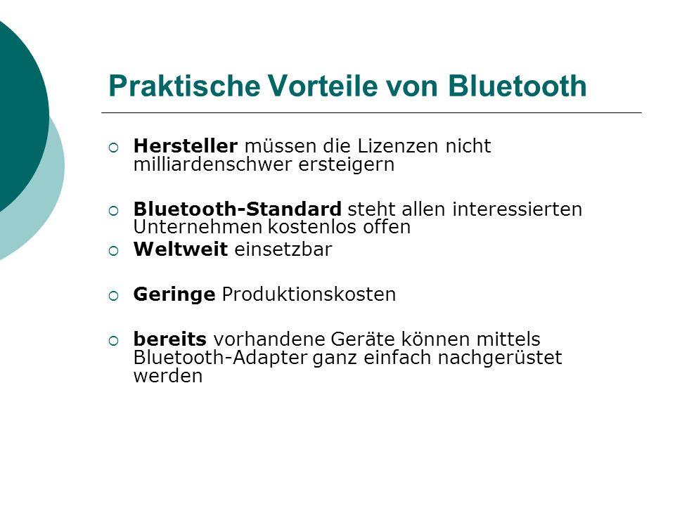 Praktische Vorteile von Bluetooth