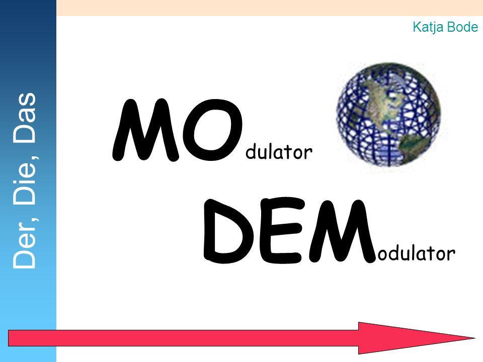 Katja Bode MOdulator Der, Die, Das DEModulator