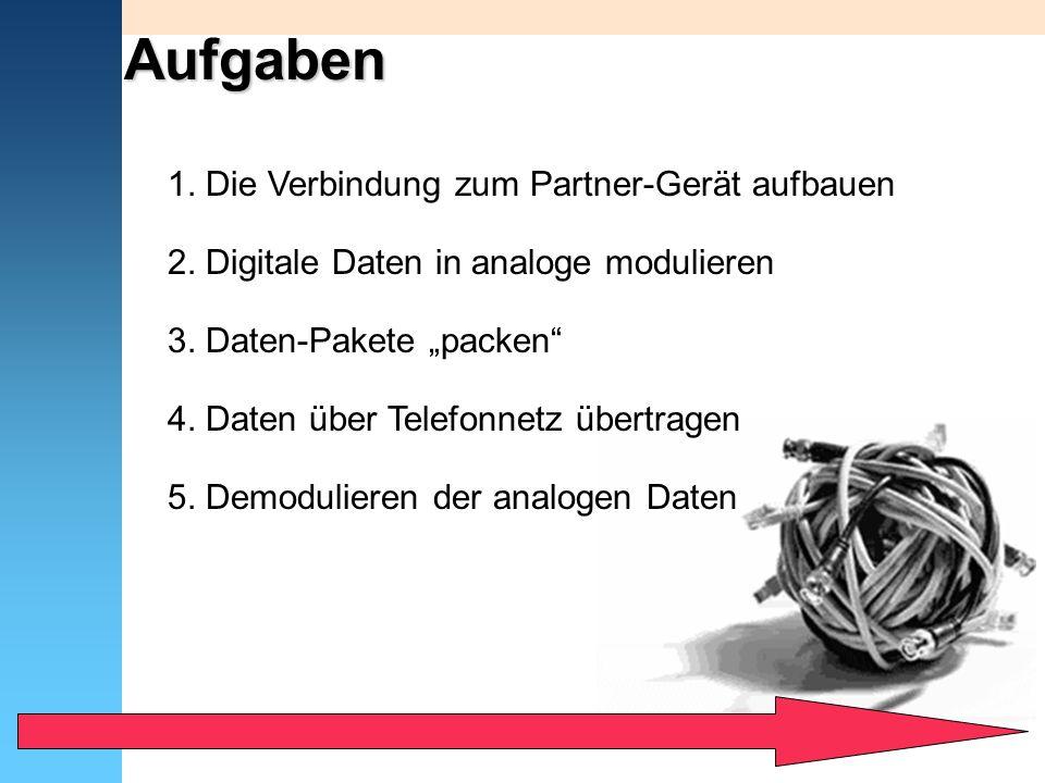 Aufgaben 1. Die Verbindung zum Partner-Gerät aufbauen