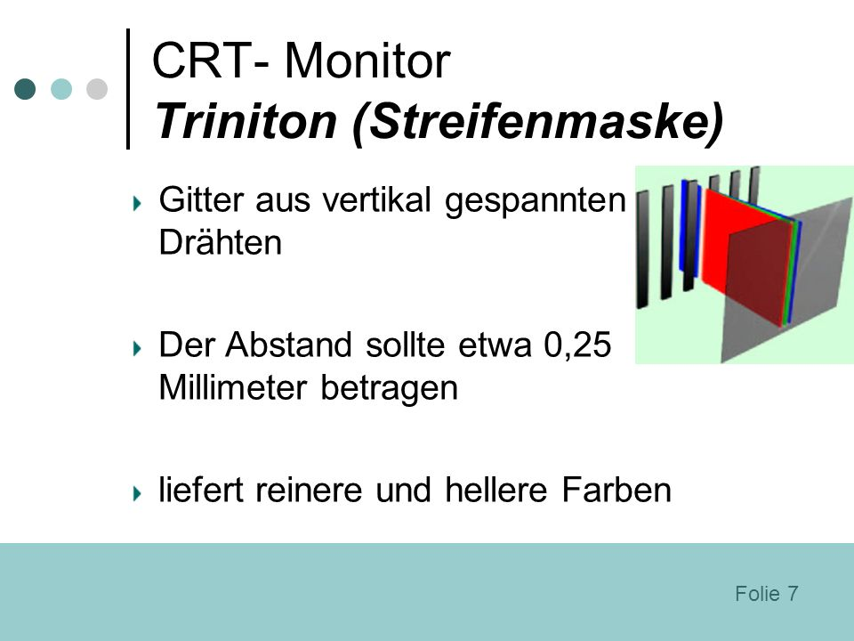 CRT- Monitor Triniton (Streifenmaske)
