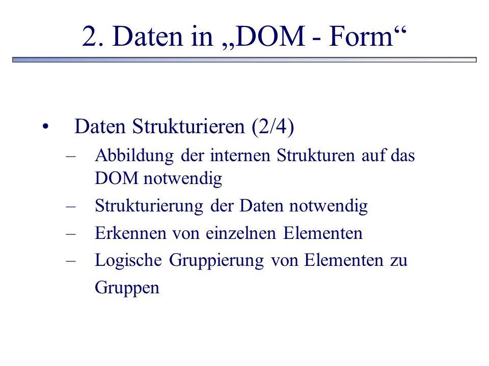 """2. Daten in """"DOM - Form Daten Strukturieren (2/4)"""