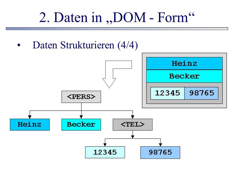 """2. Daten in """"DOM - Form Daten Strukturieren (4/4)"""