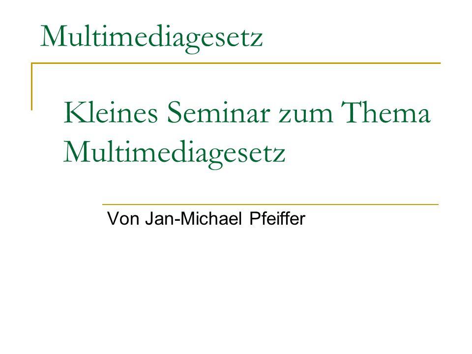 Kleines Seminar zum Thema Multimediagesetz