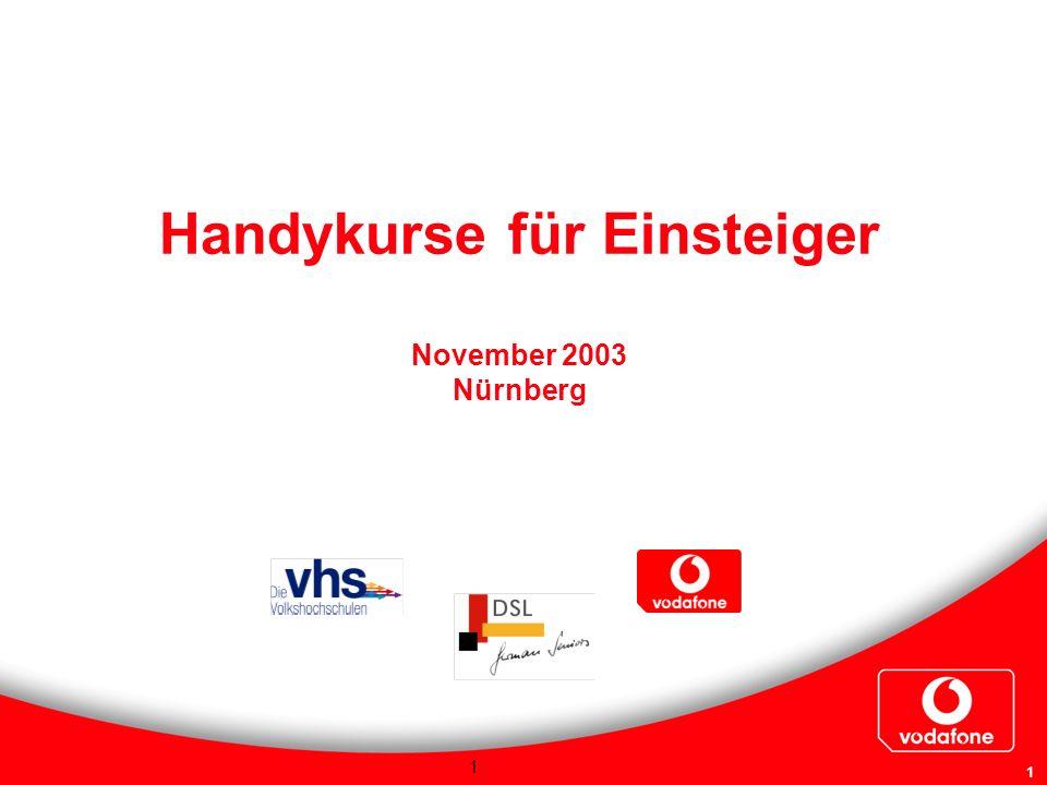 Handykurse für Einsteiger November 2003 Nürnberg