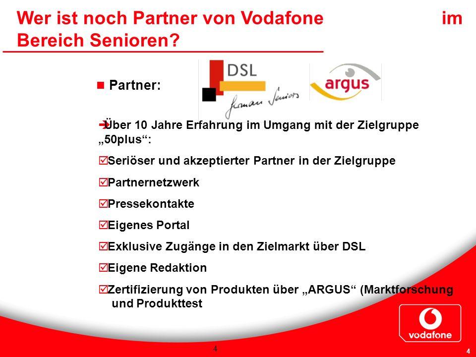 Wer ist noch Partner von Vodafone im Bereich Senioren