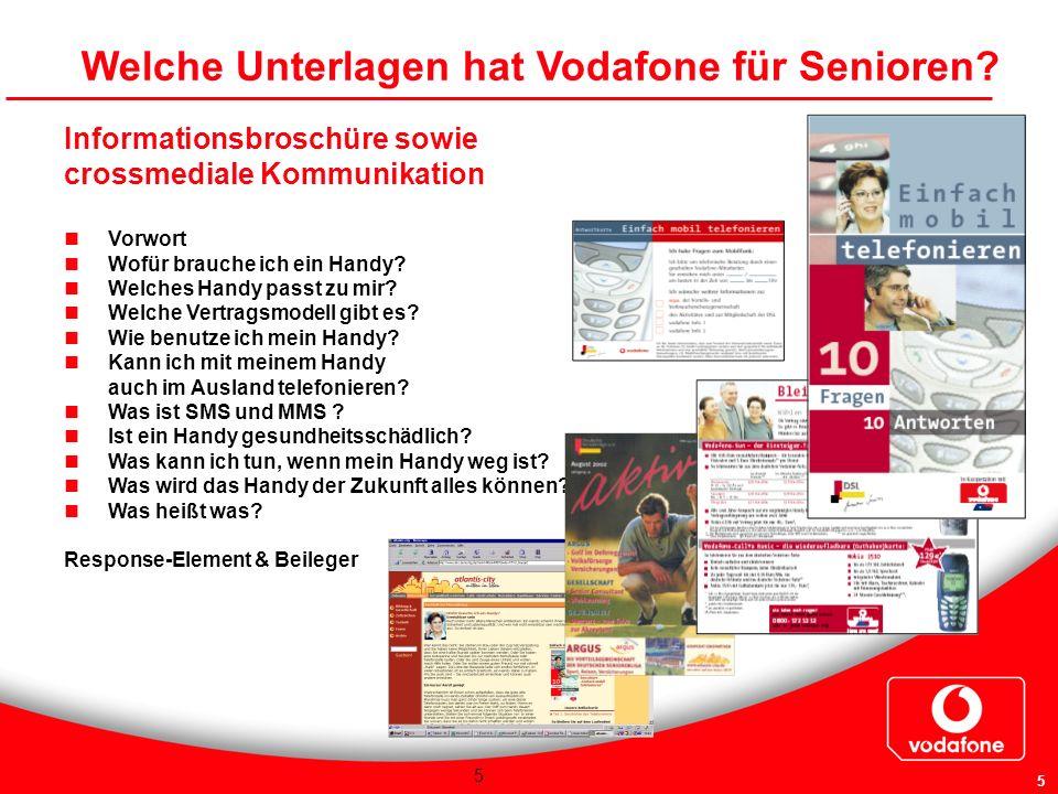 Welche Unterlagen hat Vodafone für Senioren