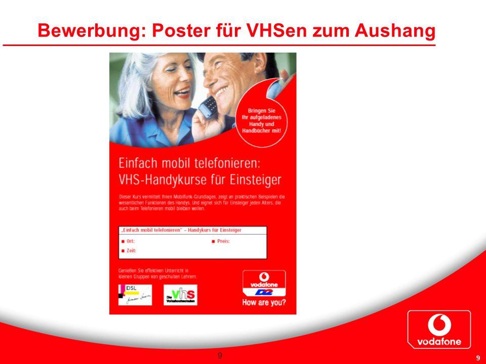 Bewerbung: Poster für VHSen zum Aushang
