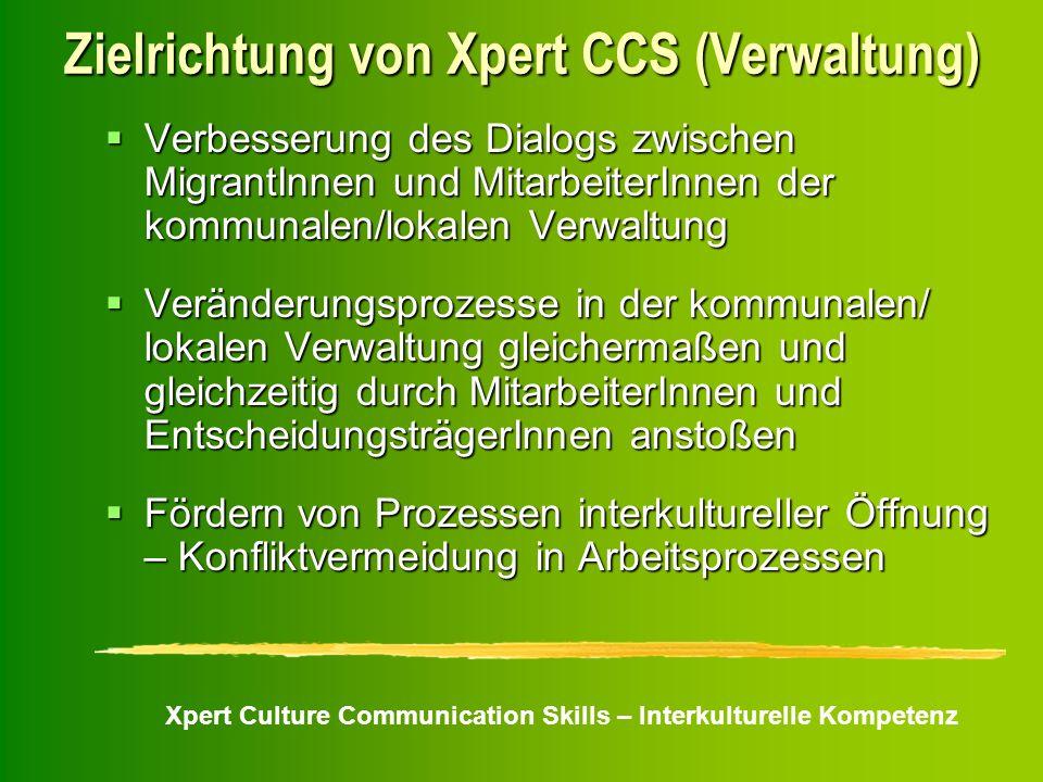 Zielrichtung von Xpert CCS (Verwaltung)