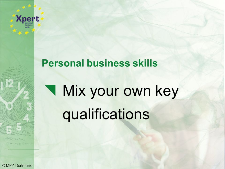 Personal business skills