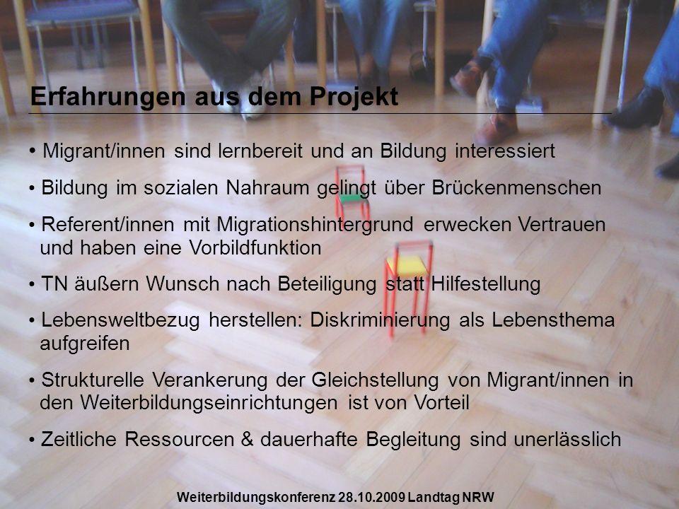 Erfahrungen aus dem Projekt