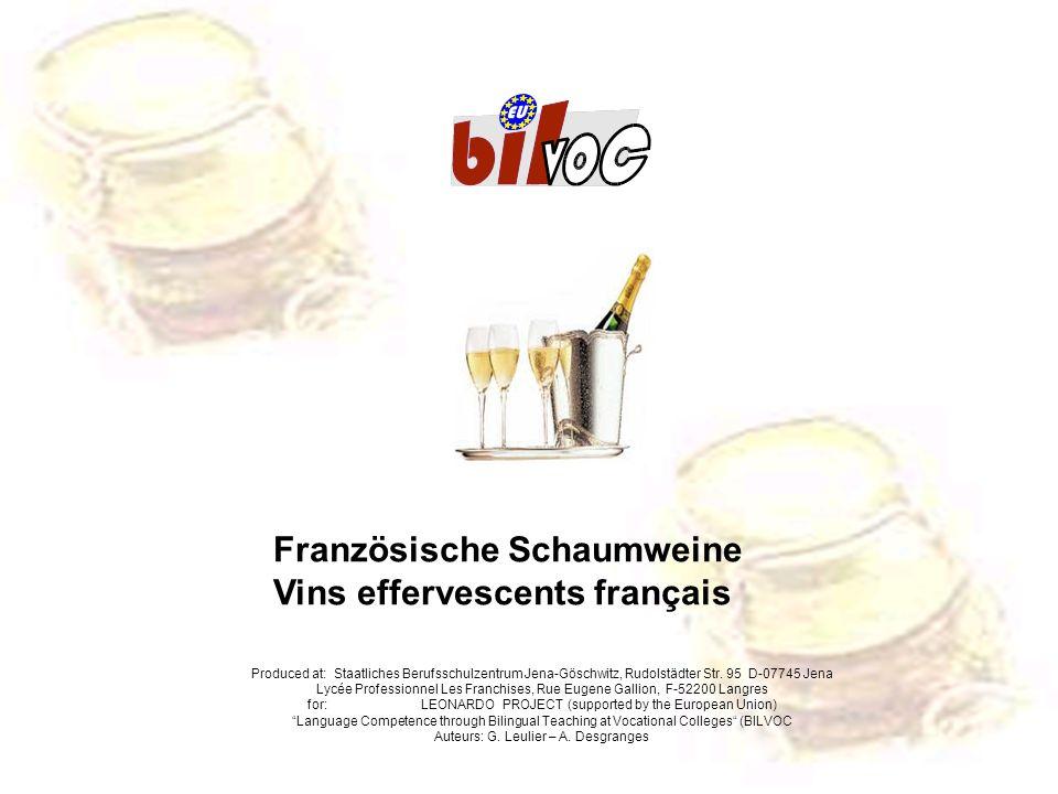 Französische Schaumweine Vins effervescents français
