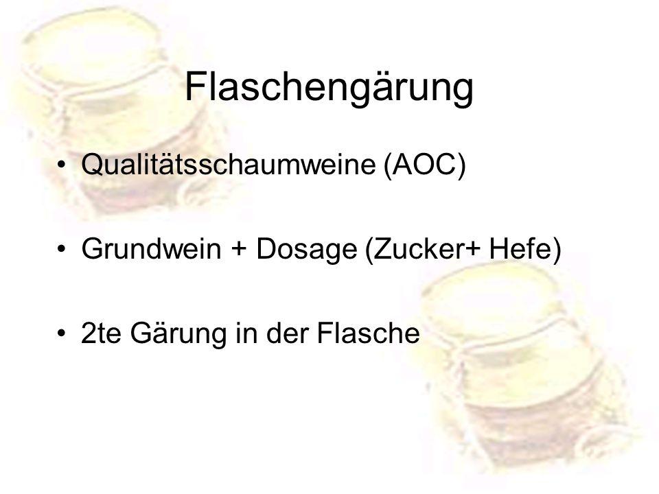 Flaschengärung Qualitätsschaumweine (AOC)