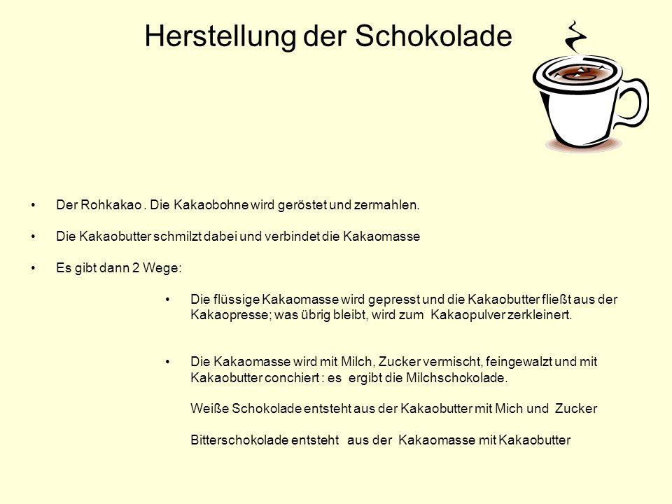 Herstellung der Schokolade