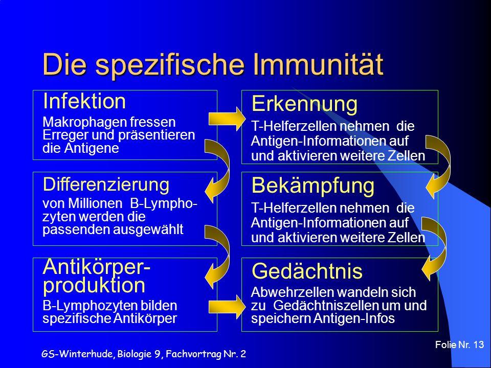 Die spezifische Immunität