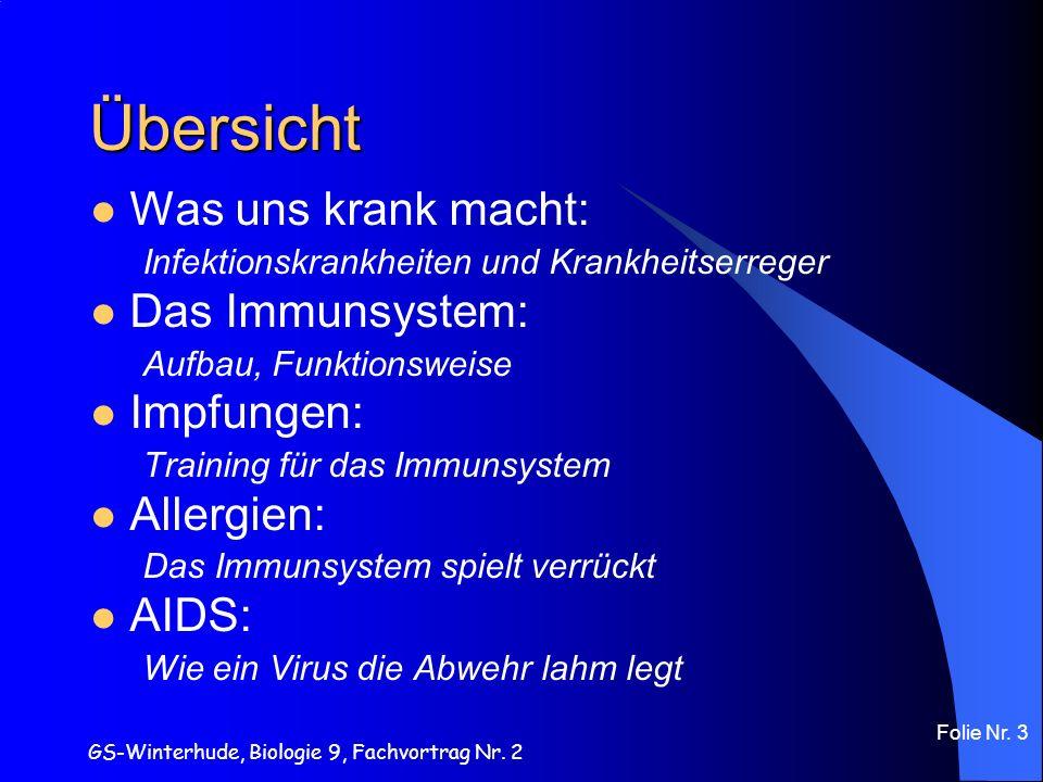 Übersicht Was uns krank macht: Das Immunsystem: Impfungen: Allergien: