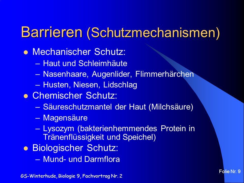 Barrieren (Schutzmechanismen)