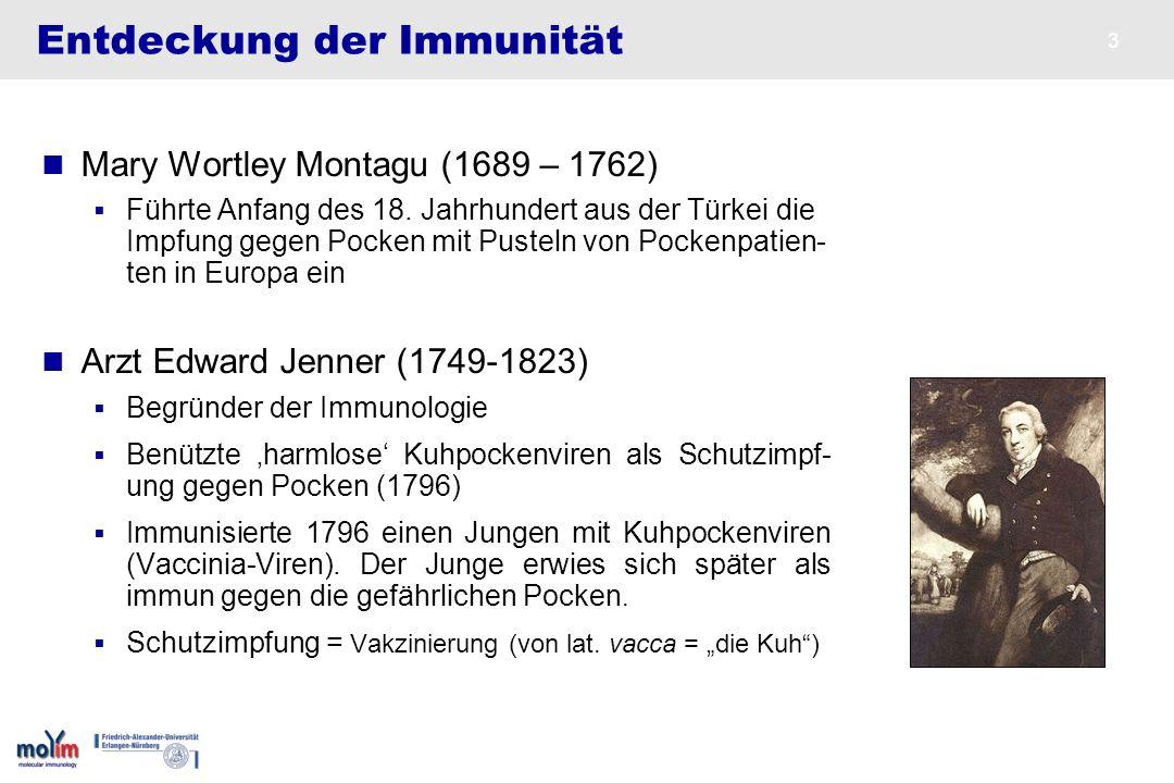 Entdeckung der Immunität