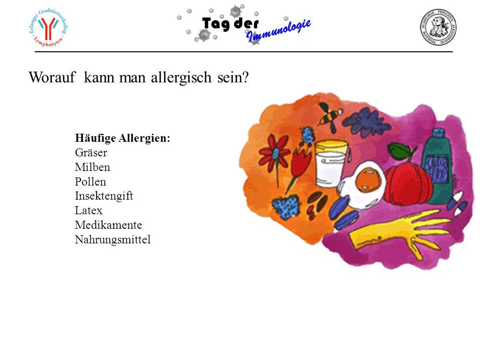 Worauf kann man allergisch sein