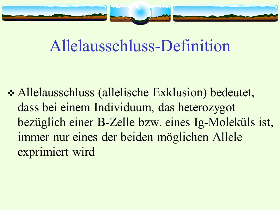 Allelausschluss-Definition