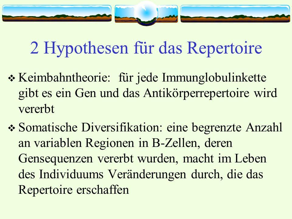 2 Hypothesen für das Repertoire