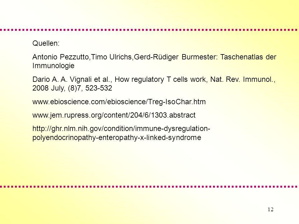 Quellen: Antonio Pezzutto,Timo Ulrichs,Gerd-Rüdiger Burmester: Taschenatlas der Immunologie.