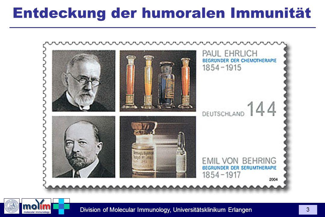 Entdeckung der humoralen Immunität