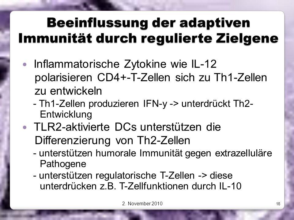 Beeinflussung der adaptiven Immunität durch regulierte Zielgene