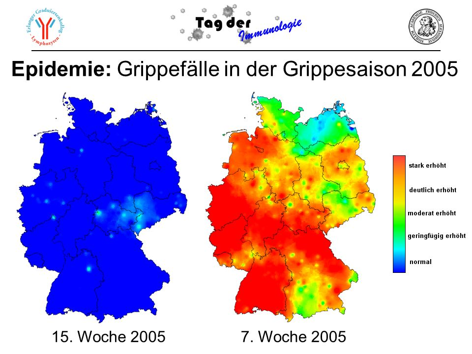 Epidemie: Grippefälle in der Grippesaison 2005