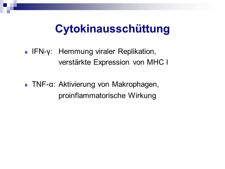 Cytokinausschüttung proinflammatorische Wirkung