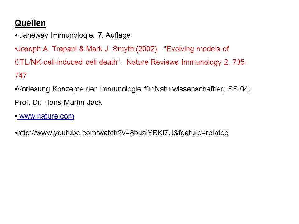 Quellen Janeway Immunologie, 7. Auflage