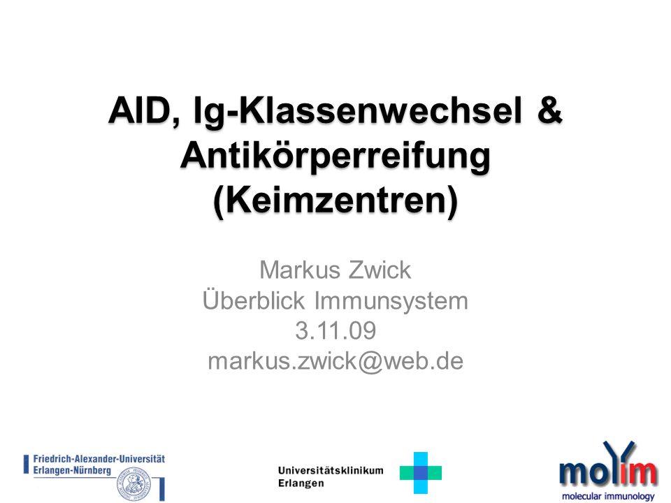 AID, Ig-Klassenwechsel & Antikörperreifung (Keimzentren)